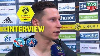 Interview de fin de match :RC Strasbourg Alsace - Paris Saint-Germain ( 1-1 )  / 2018-19