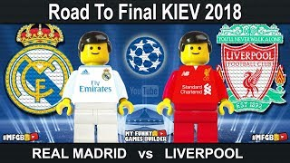 Road to kyiv • champions league final 2018 • real madrid vs liverpool • kiev 2018 • lego football