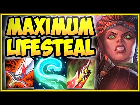 WTF ONE TENTACLE SLAM =  HP HEAL?? MAX LIFESTEAL ILLAOI TOP CHALLENGE - League of Legends