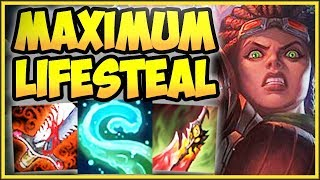 WTF! ONE TENTACLE SLAM = FULL HP HEAL?? MAX LIFESTEAL ILLAOI TOP CHALLENGE! - League of Legends