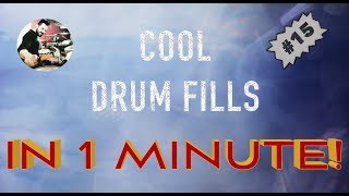 COOL DRUM FILLS IN 1 MINUTE! #15