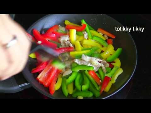 Bell Peppers Pork And Oyster Sauce : Thai Food Part 56 : How To Make Thai Food At Home