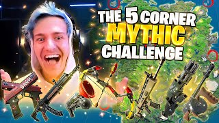 THE 5 CORNER *ALL MYTHIC* CHALLENGE! W/ @TimTheTatman @CouRage & @SypherPK​