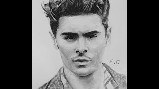 Simple Zac Efron Drawings 2