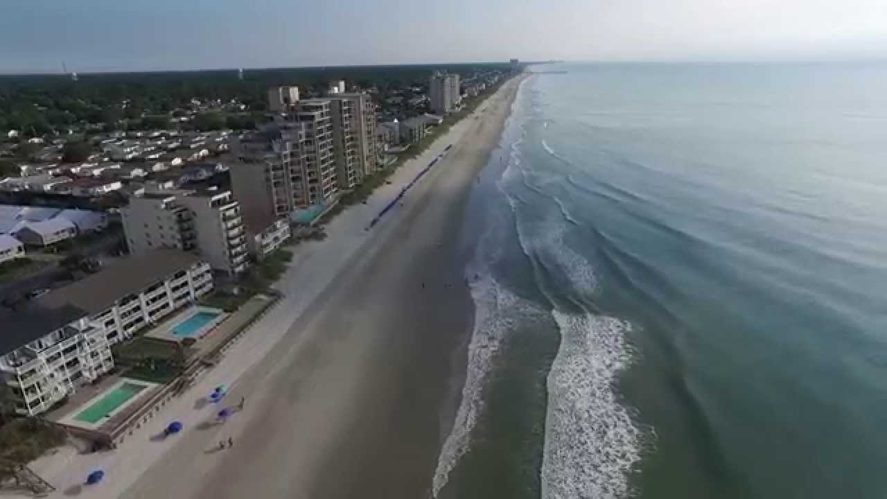 Aerial Video From Surfside Beach South Carolina