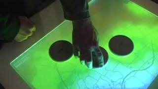 Brick Table Tangible Multi Touch Interface
