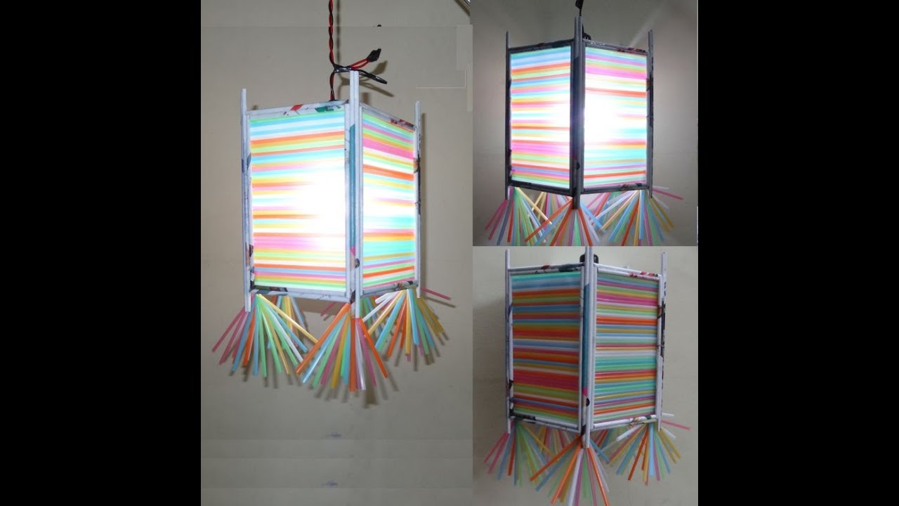 Paper Crafts Home Decorations 3d Multicolored Lamp