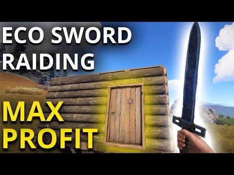 ECO-SWORD RAIDING on Wipe Day! - Rust Survival