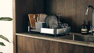 extend steel expandable dish rack