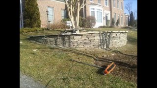 fairfax contractor installing retaining and planter walls video