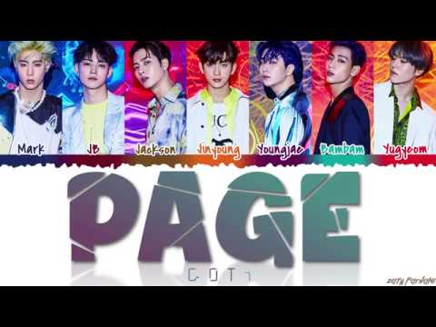 GOT7 갓세븐 - &39;PAGE&39;  Color CodedHanRomEng