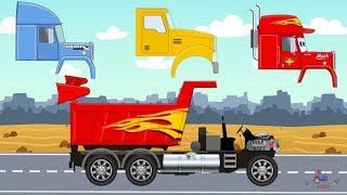 Trucks and Monster Truck What Head | Street Vehicles For Children | Video For Kids #Ciężarówki Bajki