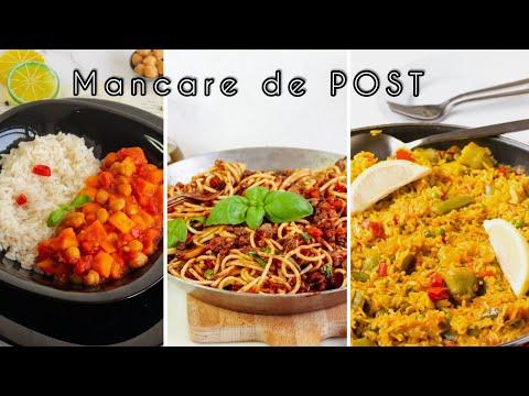 3 Rețete DE POST - Ideale pentru prânz sau cină | Mâncare de post |#retetedepost