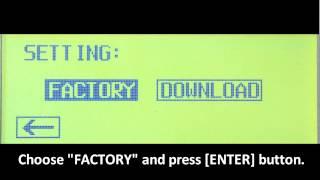 【XM eDrum】100S module - Restoring the Factory Settings (14-14)