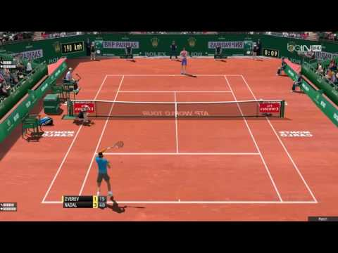 Zverev - Nadal | Monte-Carlo Rolex Masters 2017 | Tennis Elbow 2013 Gameplay