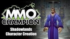 Shadowlands - New Character Creation Screen