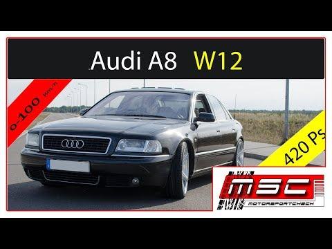 Audi A8 W12 6.0l  0-100 100-200 420 ps | Motorsportcheck.de
