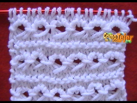 Como Tejer Punto Peruano-Broomstick Loop Stitch 2 Agujas (7) - YouTube