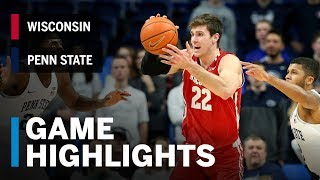Highlights: Wisconsin at Penn State | Big Ten Basketball