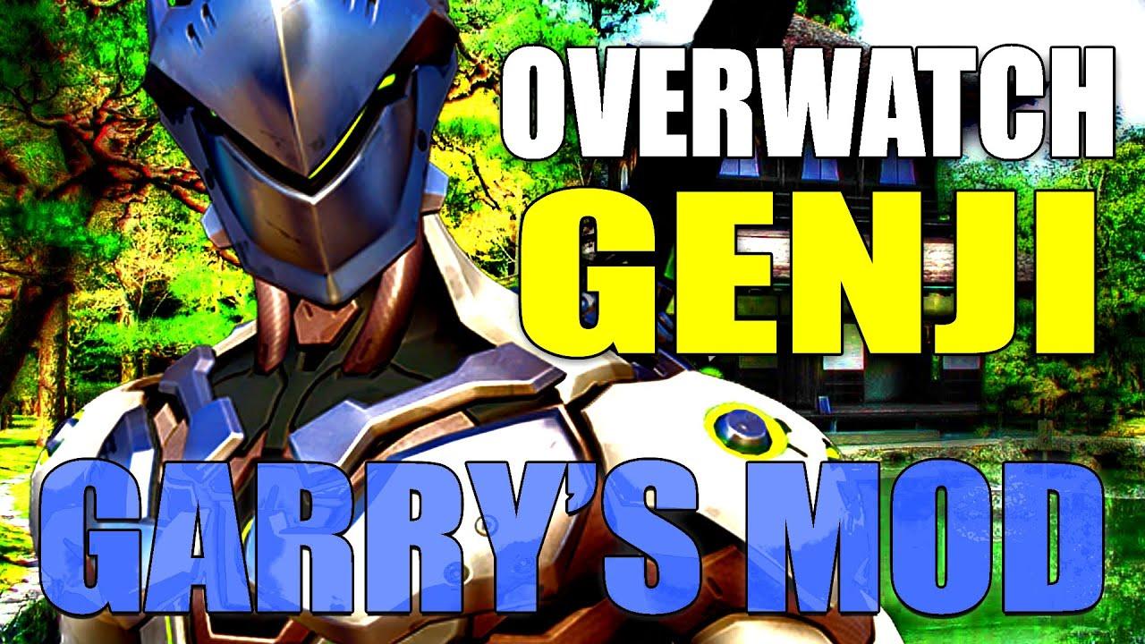 Gmod SWORDS & SMGS Deathmatch w/ OVERWATCH Genji Mod!