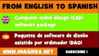 ESPAÑOL = INGLÉS = Paquetes de software de diseño asistido por ordenador DAO