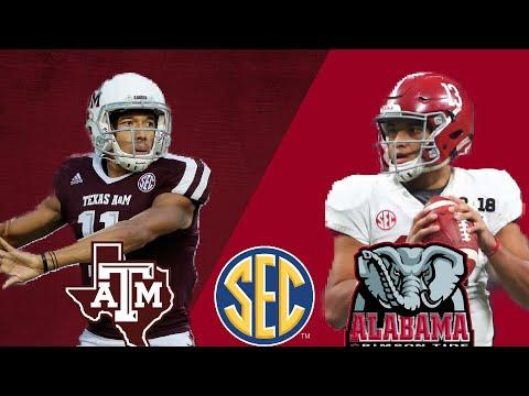 22 Texas A&M Aggies vs 1 Alabama Crimson Tide  SEC Game of the Week  2018 NCAA Football Week 4