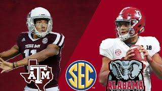 #22 Texas A&M Aggies vs #1 Alabama Crimson Tide | SEC Game of the Week | 2018 NCAA Football Week 4