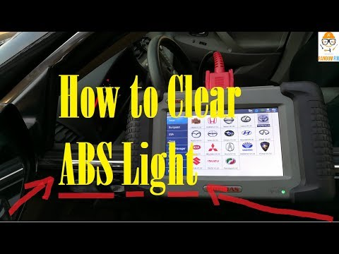 How to Clear ABS Light + Code using Obd2 ObdII Scanner, Color Touch Screen That's Easy to Use