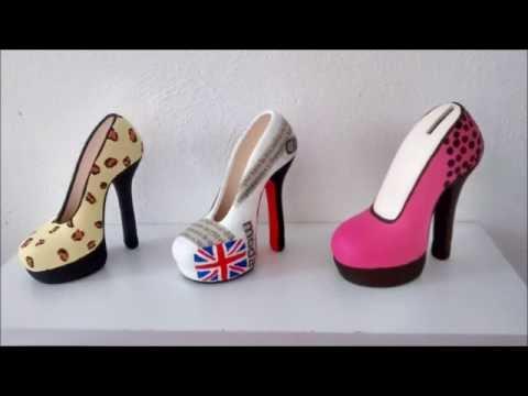 Manualidad como pintar zapatilla de cer mica youtube - Unas modelos para pintar ...