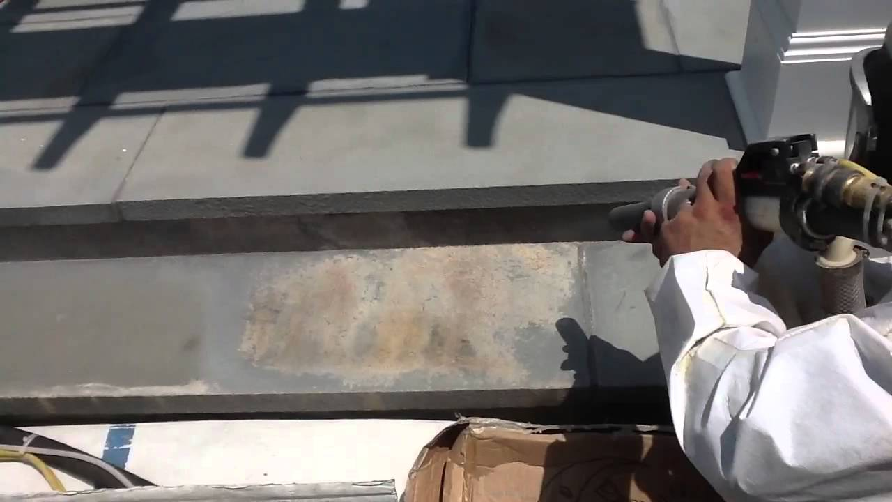 Surface Cleaning Effervescent Build Up From A Bluestone Pat Youtube