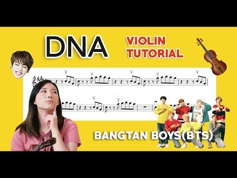 """""""DNA"""" BTS (방탄소년단) EASY VIOLIN TUTORIAL"""