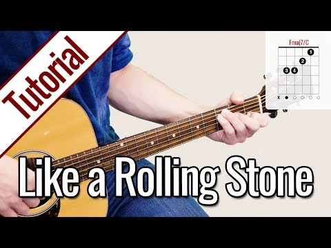 Bob Dylan - Like a Rolling Stone | Gitarren Tutorial Deutsch
