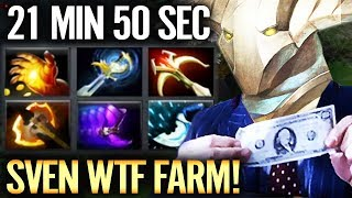 FARMING LIKE A BOSS WTF SVEN 1000 GPM Dota 2 EPIC Farming SKill