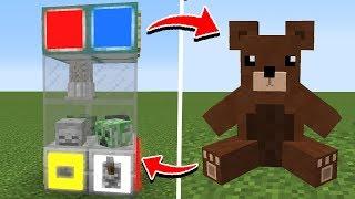 как сделать автомат с игрушками в MINECRAFT без модов и командных блоков???