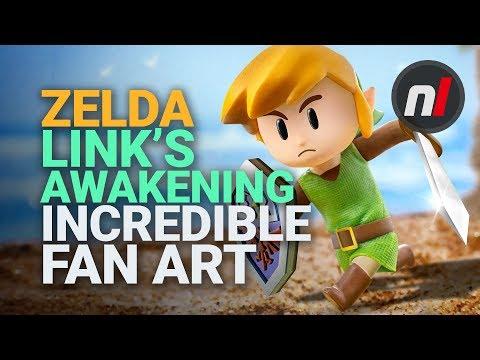 Amazing Zelda Link S Awakening Fan Art Youtube