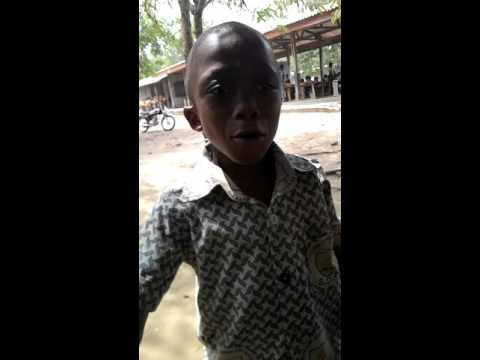 Class 1 boy rapping in the north tongu district