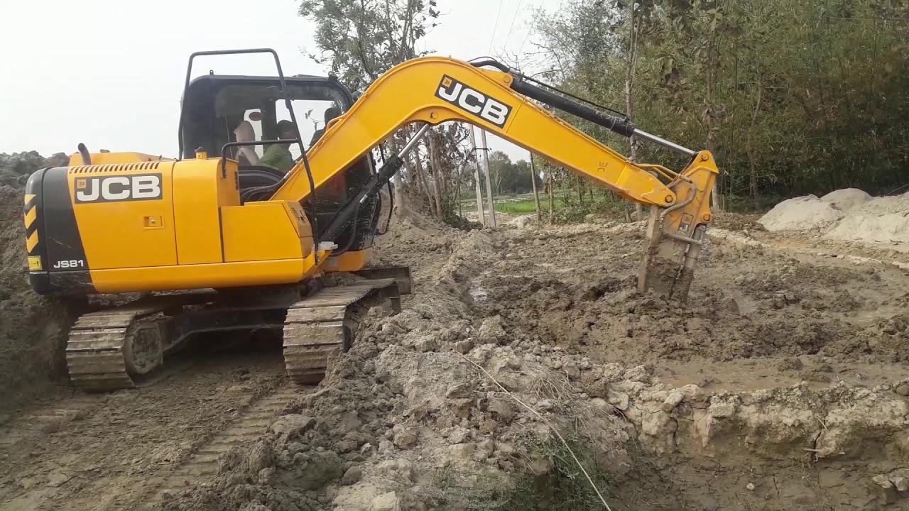Jcb js81 working  - YouTube