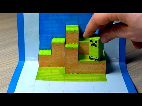 DIY POP UP CARD | MINECRAFT TOY FOR KIDS
