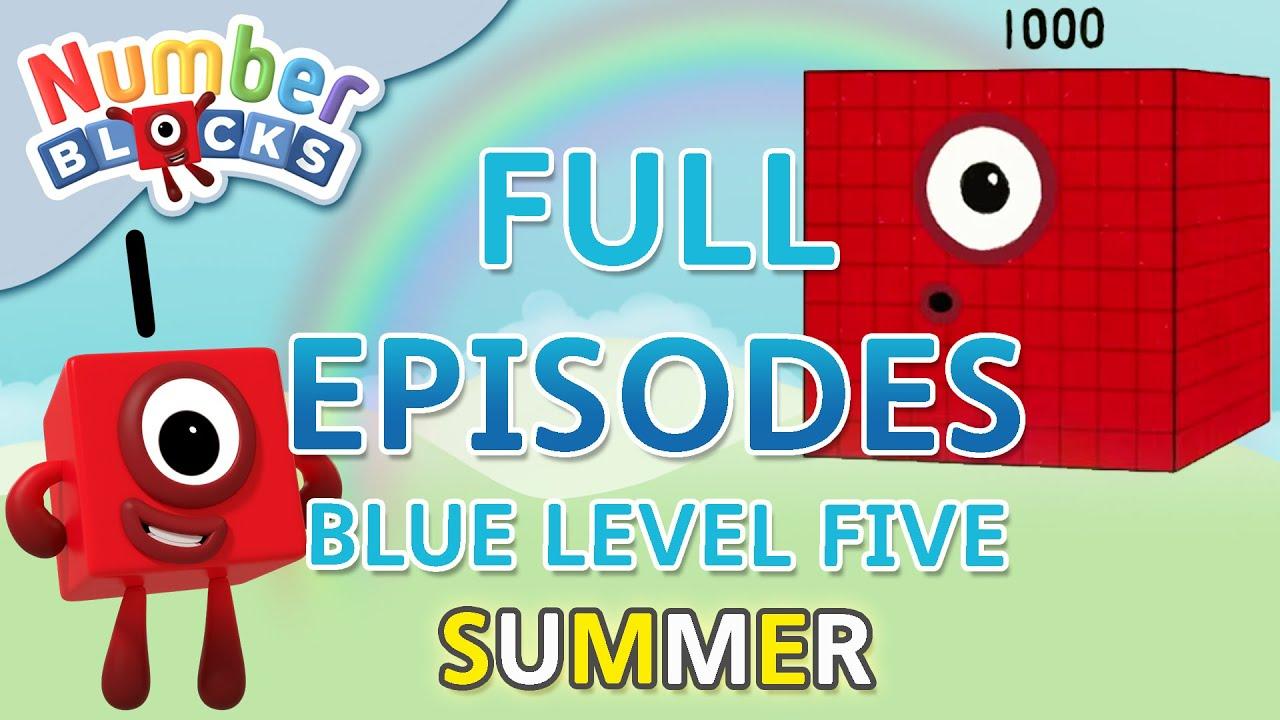 Download @Numberblocks - #SummerLearning - Blue Level Five   Full Episodes 4-5