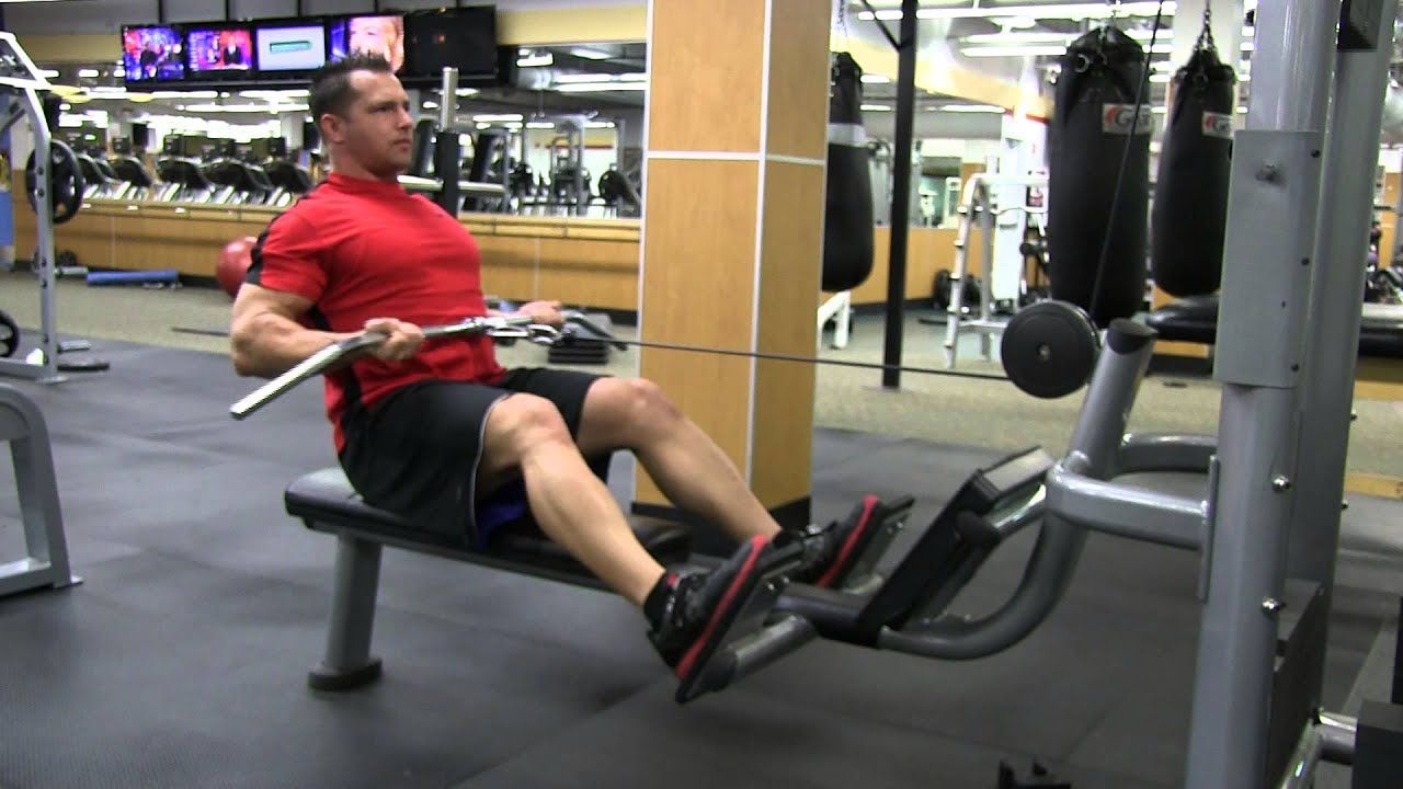 chair exercises on cable tv ikea oak chairs seated straight bar reverse low row youtube