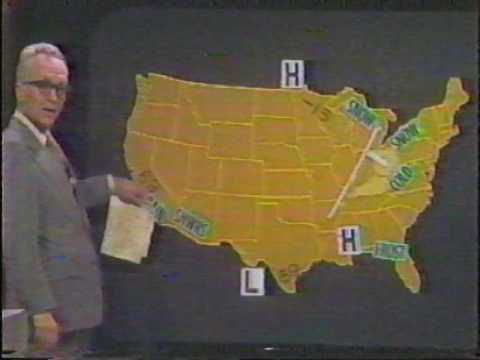WSAZ-TV 3; Huntington, WV With Bud Daily Doing The Weather; 1977.