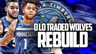 D'angelo Russell TRADED! Minnesota Timberwolves Rebuild   NBA 2K20