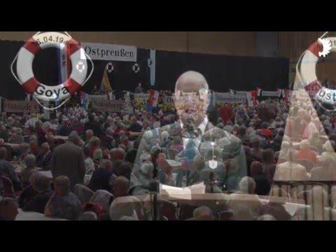 Eröffnung des 20. Landestreffens der Ostpreußen in MV, Schwerin 2015, mit Einzug der Heimatfahnen