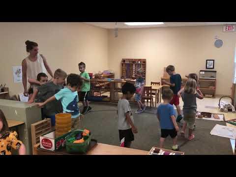 Morning movement at Meadow Montessori School