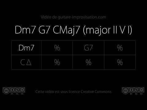 Dm7 G7 CMaj7 (jazz II V I) - 140 bpm : Backing Track
