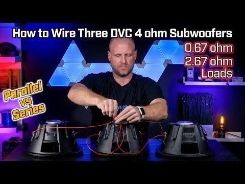 4 ohm dvc wiring diagram how to wire three subwoofers dvc 4 ohm 0 67 ohm parallel vs 2 67  how to wire three subwoofers dvc 4 ohm
