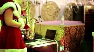 Sax Welcome Саксофон снегурочка саксофонистка спб новый год 2014