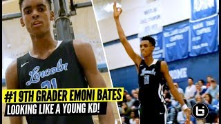 #1 9th Grader Emoni Bates Really Lookin Like a Young KD!!