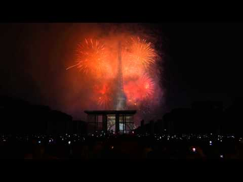 Timelapse feu d'artifice 14 juillet 2015 Paris