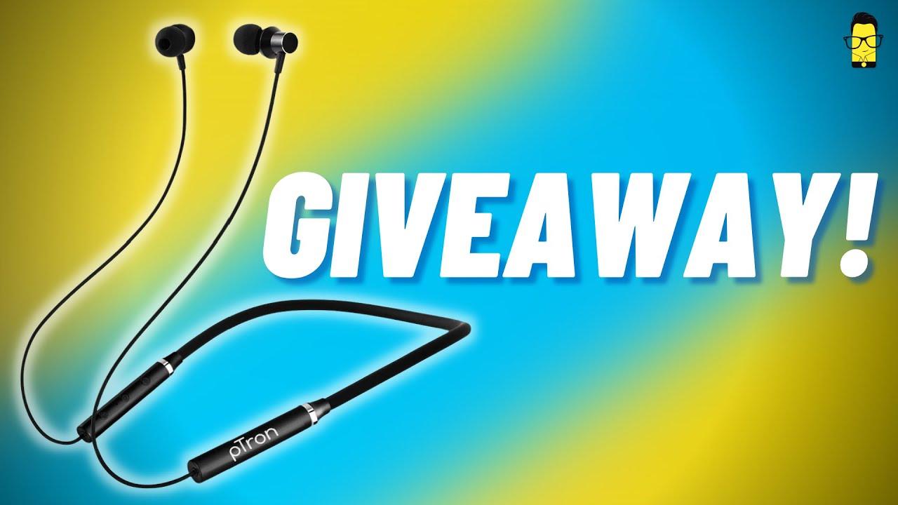 pTron Tangent Beats Wireless Neckband Giveaway! 🔥
